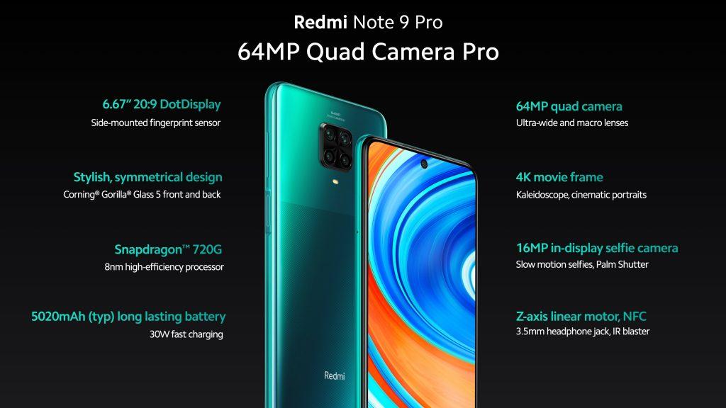 Hlavní parametry Redmi Note 9 Pro