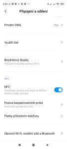 Nechybí NFC