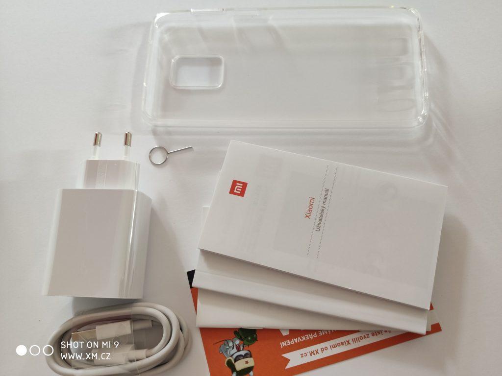 Obsah balení Redmi Note 9 Pro