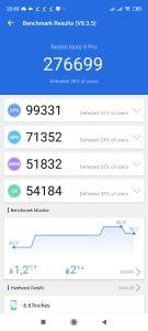 Redmi Note 9 Pro v AnTuTu Benchmark