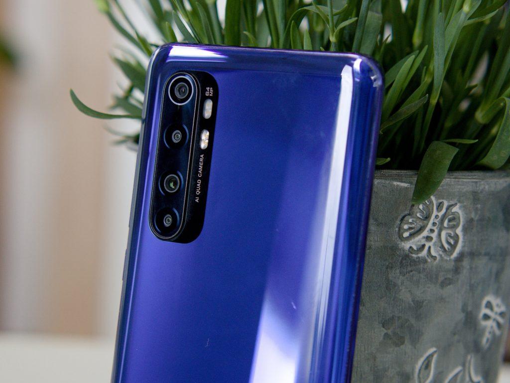 Xiaomi Mi Note 10 Lite fotoaparáty