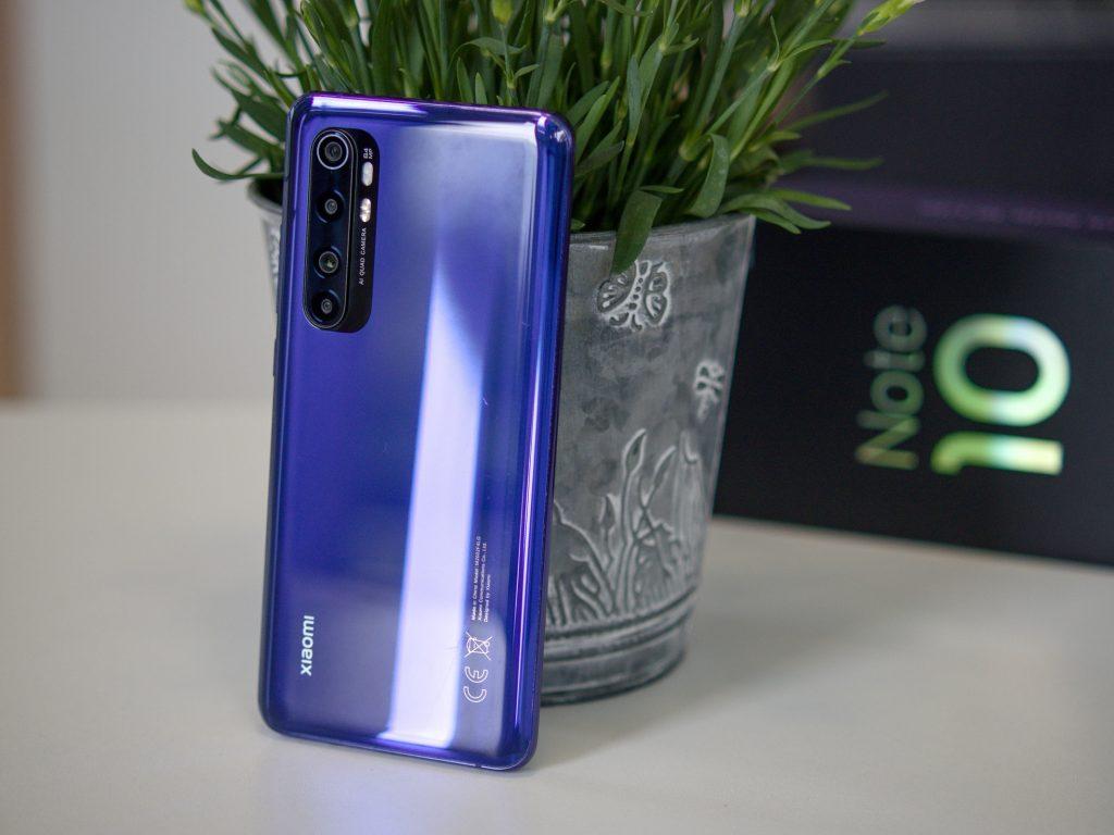 Xiaomi Mi Note 10 Lite zadní strana