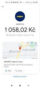 Úspěšná platba kartou