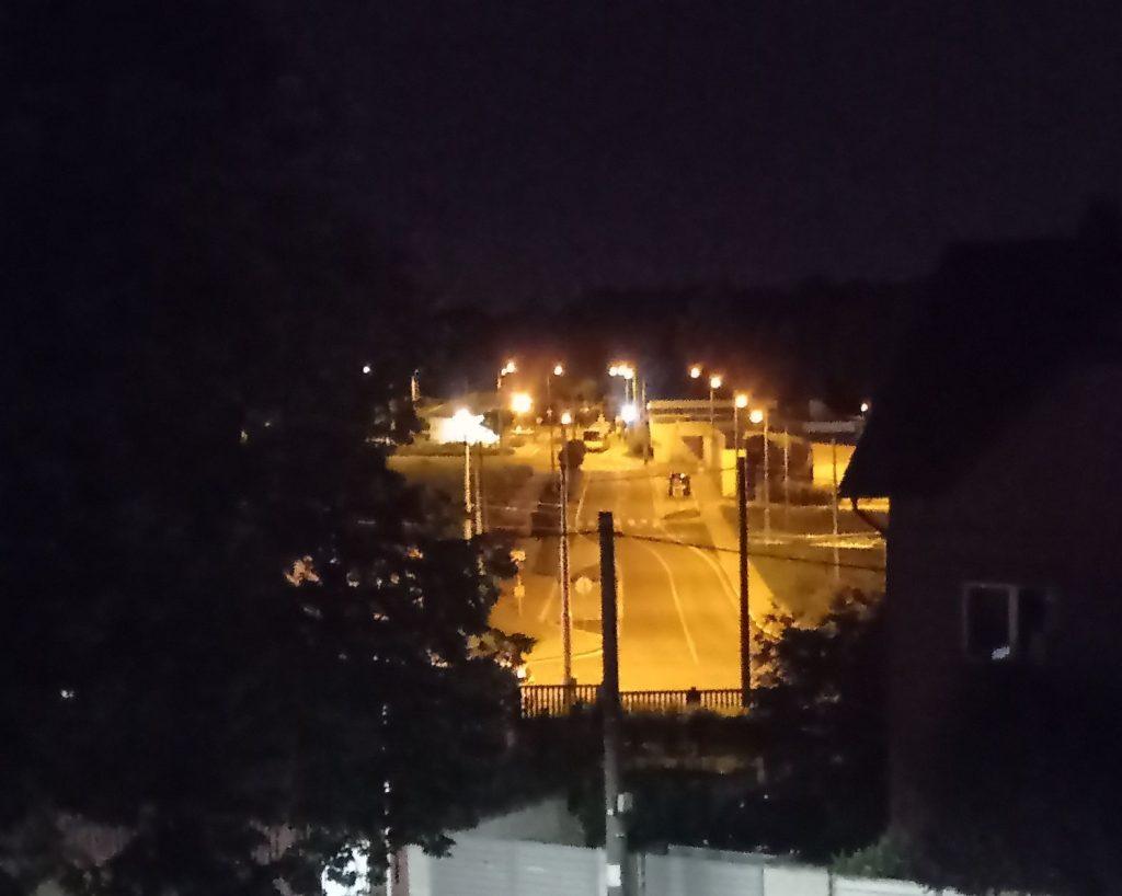 Detail noční fotky