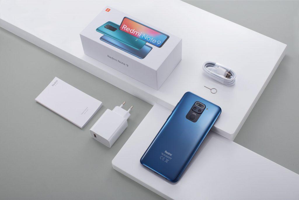 Obsah balení telefonu Redmi Note 9