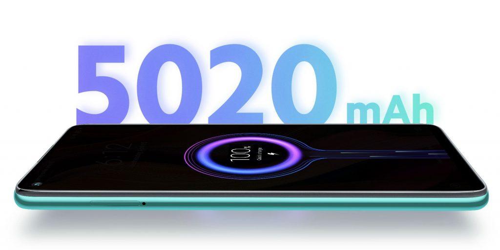 Redmi Note 9 je napájen lithium-iontovo-polymerovou baterií s velice pěknou kapacitou 5020 mAh