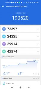 Redmi Note 9 v AnTuTu Benchmark