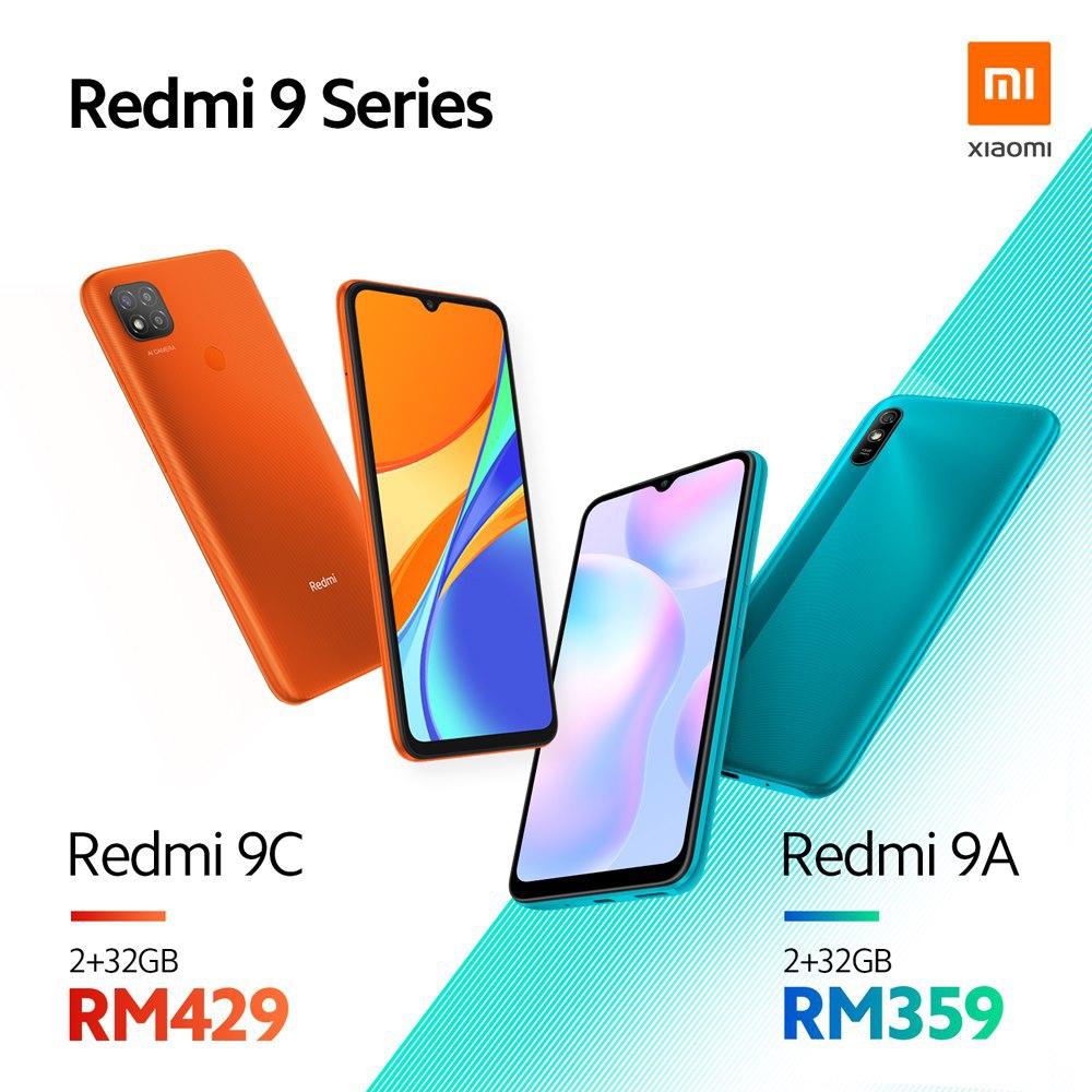 Telefony Redmi 9A a Redmi 9C