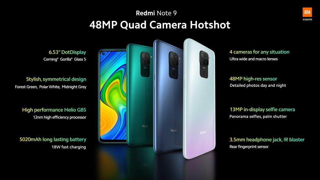 Základní parametry telefonu Redmi Note 9