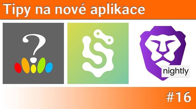 Tipy na nové aplikace #16: Šlappeto, Test osobnosti a Brave Browser