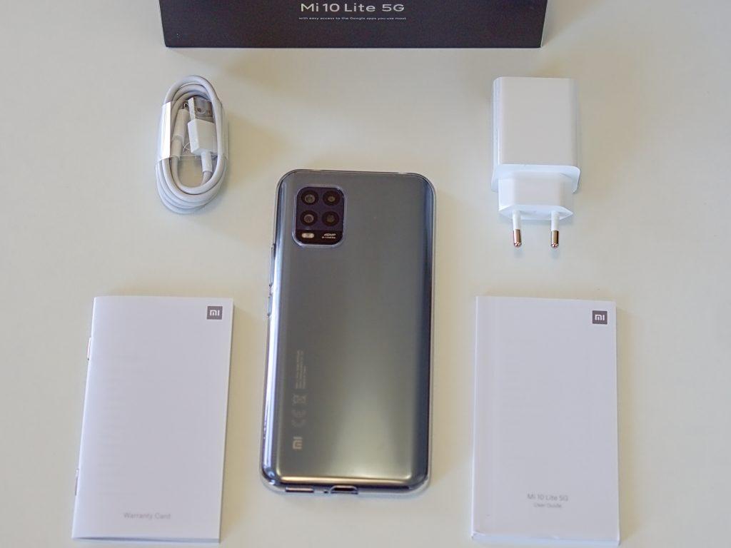 obsah balení Xiaomi Mi 10 Lite