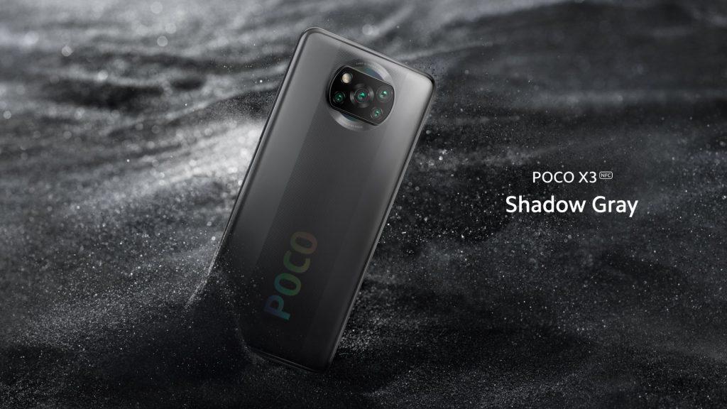 Telefon Poco X3 v šedé barvě
