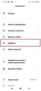 Pokračujte do Aplikace