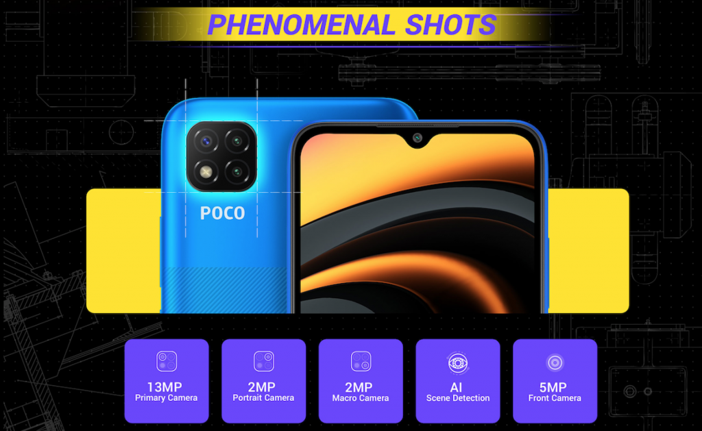 Poco C3 se čtyřmi foťáky