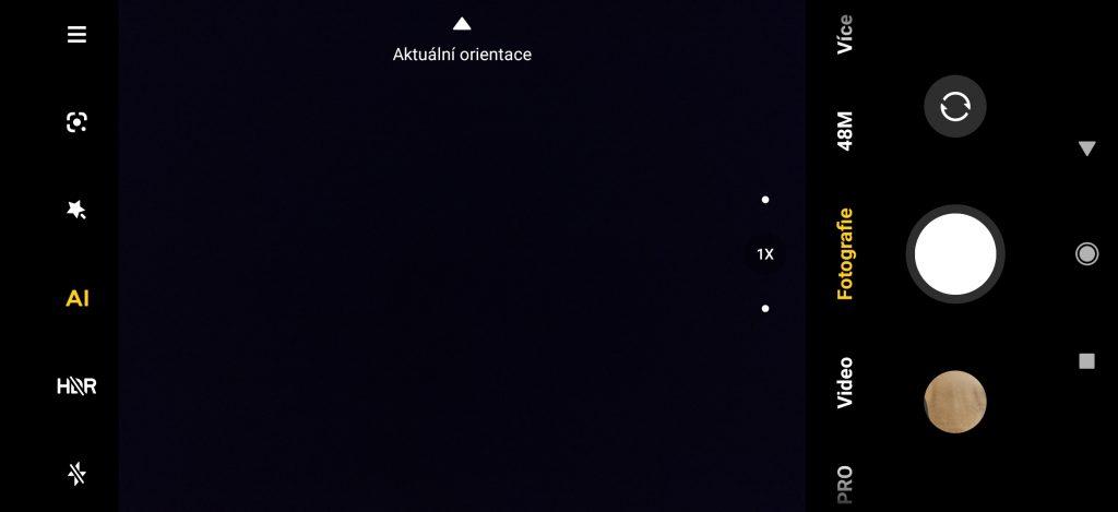 Aplikace Fotoaparát v MIUI 12