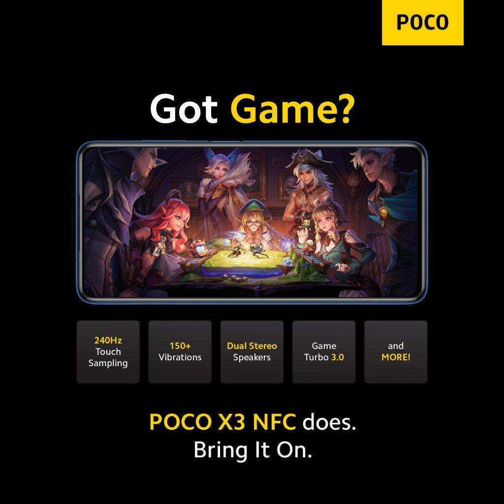 Poco X3 míří i na hráče