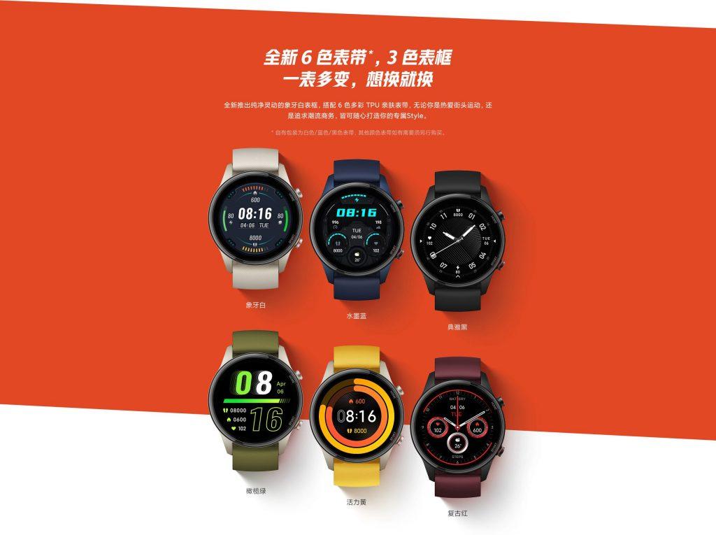 Na domácím trhu jsou chytré hodinky Xiaomi Mi Watch Color Sports Edition prodávány v šesti barevných variantách