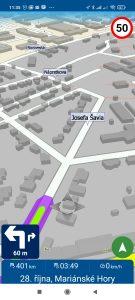 Navigace MapFactor Navigator