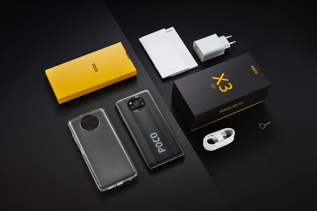 Obsah balení telefonu Poco X3