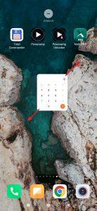 Widget přetáhněte na příslušné místo domovské obrazovky, kde ho pustíte