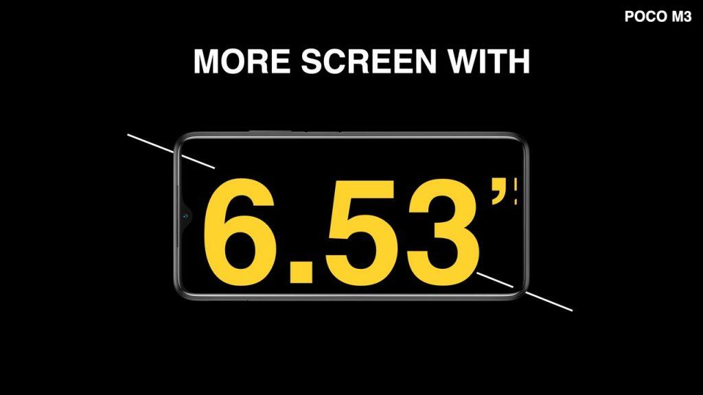 6,53palcová IPS LCD obrazovka