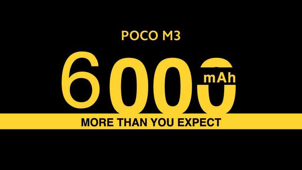 Baterie s kapacitou 6000 mAh