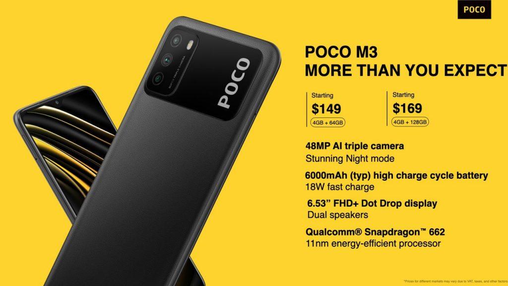 Ceny Poco M3