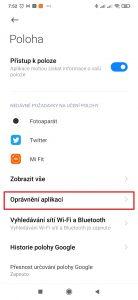 Oprávnění aplikací