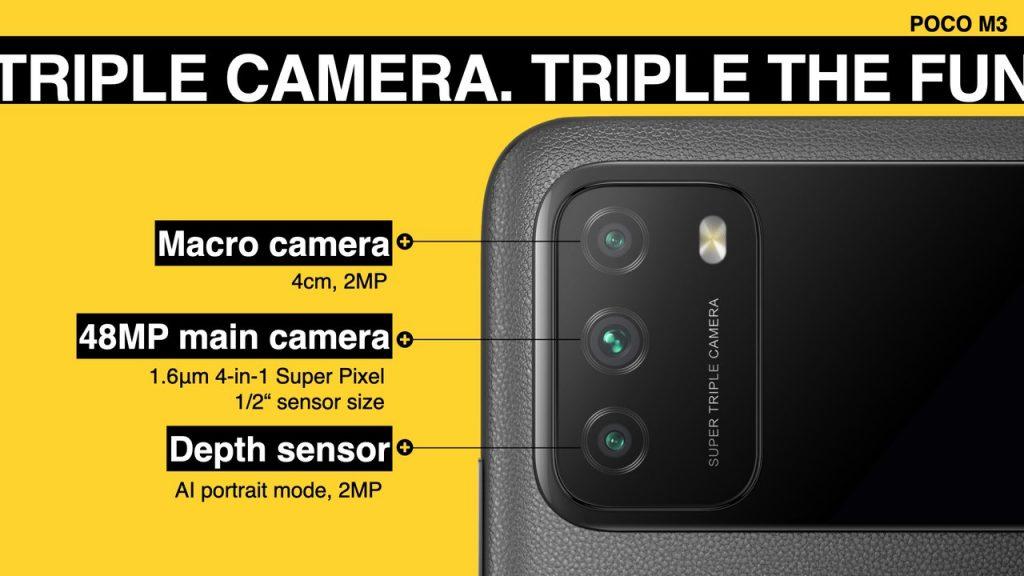 Tři fotoaparáty vzadu
