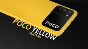Žlutý telefon Poco M3