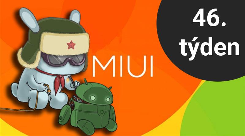 Které telefony dostaly ve 46. týdnu aktualizace MIUI a/nebo Androidu?