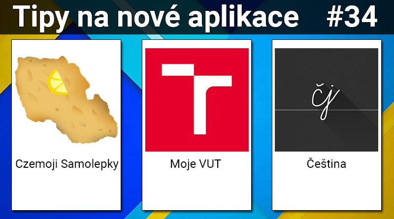Tipy na nové aplikace #34: Czemoji Samolepky, Moje VUT a Čeština