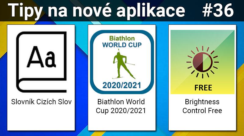 Tipy na nové aplikace #36: Biathlon WC, Slovník Cizích Slov a Brightness Control