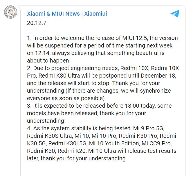Chystá se vydání MIUI 12.5