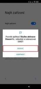 Povolte Službě aktivace Xiaomi SIM odesílat a zobrazovat SMS