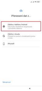 Záloha z telefonu Android