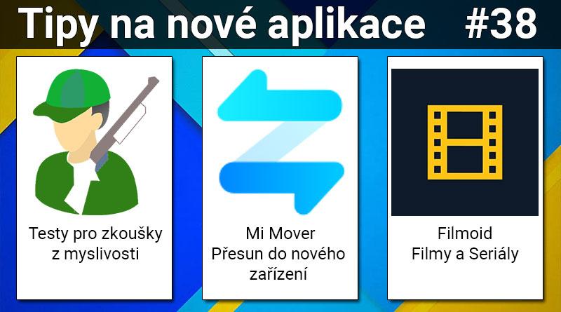 Tipy na nové aplikace #38: Filmoid, Mi Mover a Zkoušky z myslivosti