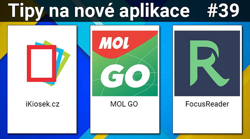 Tipy na nové aplikace #39: MOL GO, iKiosek.cz a FocusReader