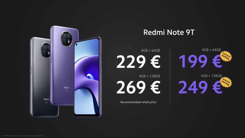 Ceny Redmi Note 9T