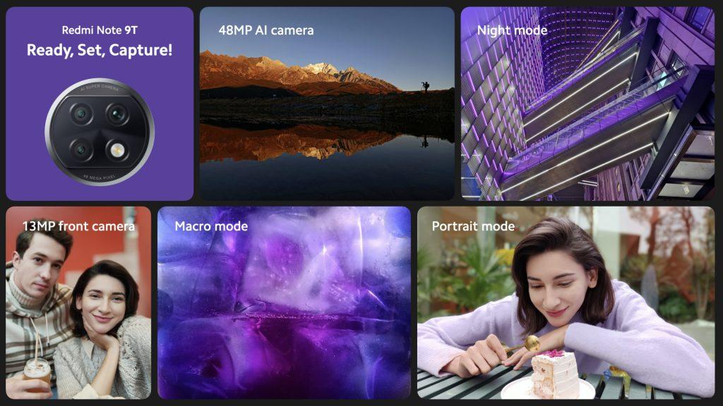 Čtyři fotoaparáty Redmi Note 9T