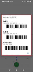 Informace o zařízení