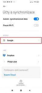 Otevřete účet Google