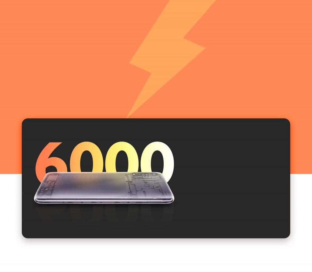 Velká baterie s kapacitou 6000 mAh