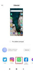 Vyberte aplikaci, přes kterou chcete odesílat