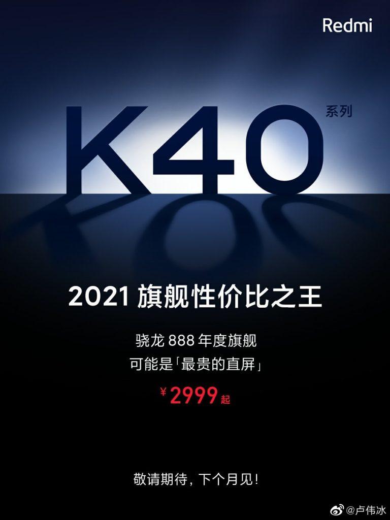 Xiaomi představí v únoru Redmi K40 s procesorem Snapdragon 888