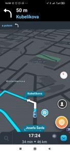 Navigace v aplikaci Waze