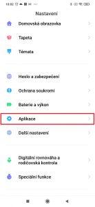 Pokračujte do sekce Aplikace.