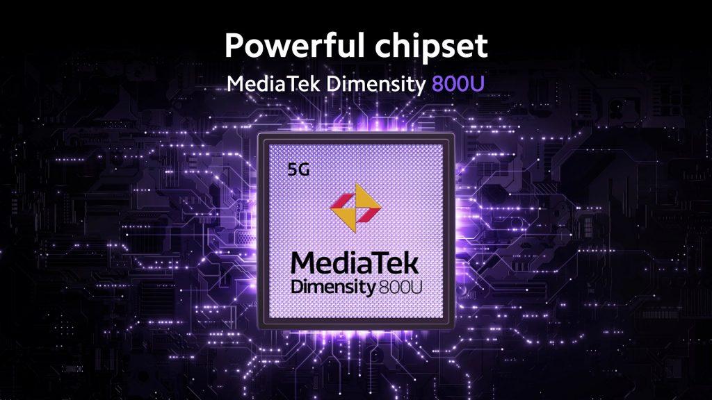 Srdcem telefonu je procesor MediaTek Dimensity 800U