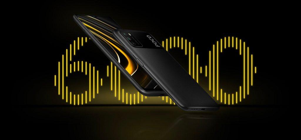 Telefon Poco M3 je vybaven baterií s kapacitou 6000 mAh