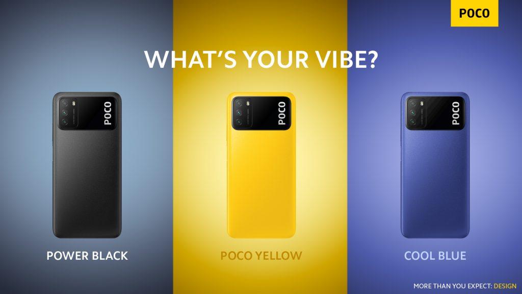 Tři barevná provedení Poco M3